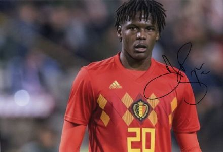 Dedryck Boyata, Glasgow Celtic & Belgium, signed 12x8 inch photo.
